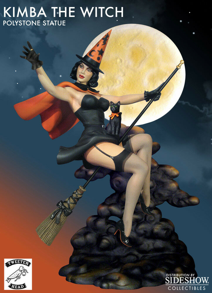 Tweeterhead - Kimba the Witch 12  Statue - Happy Halloween