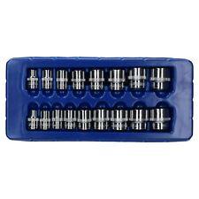 US PRO Tools 17pc 3//8 Dr Shallow Sockets Satin Finish 8-24mm 3256