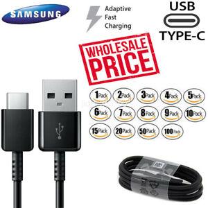 Original-Samsung-USB-Cable-de-tipo-C-rapido-charginggalaxy-Note-8-9-S8-S9-S10-Lote