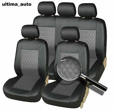 Set Completo Coprisedili Auto Ecopelle Nero già riferimento di alta qualità compatibile