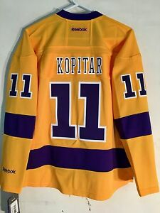 buy online 2d8d7 d7448 Details about Reebok Women's Premier NHL Jersey Los Angeles Kings Anze  Kopitar Yellow sz 2X