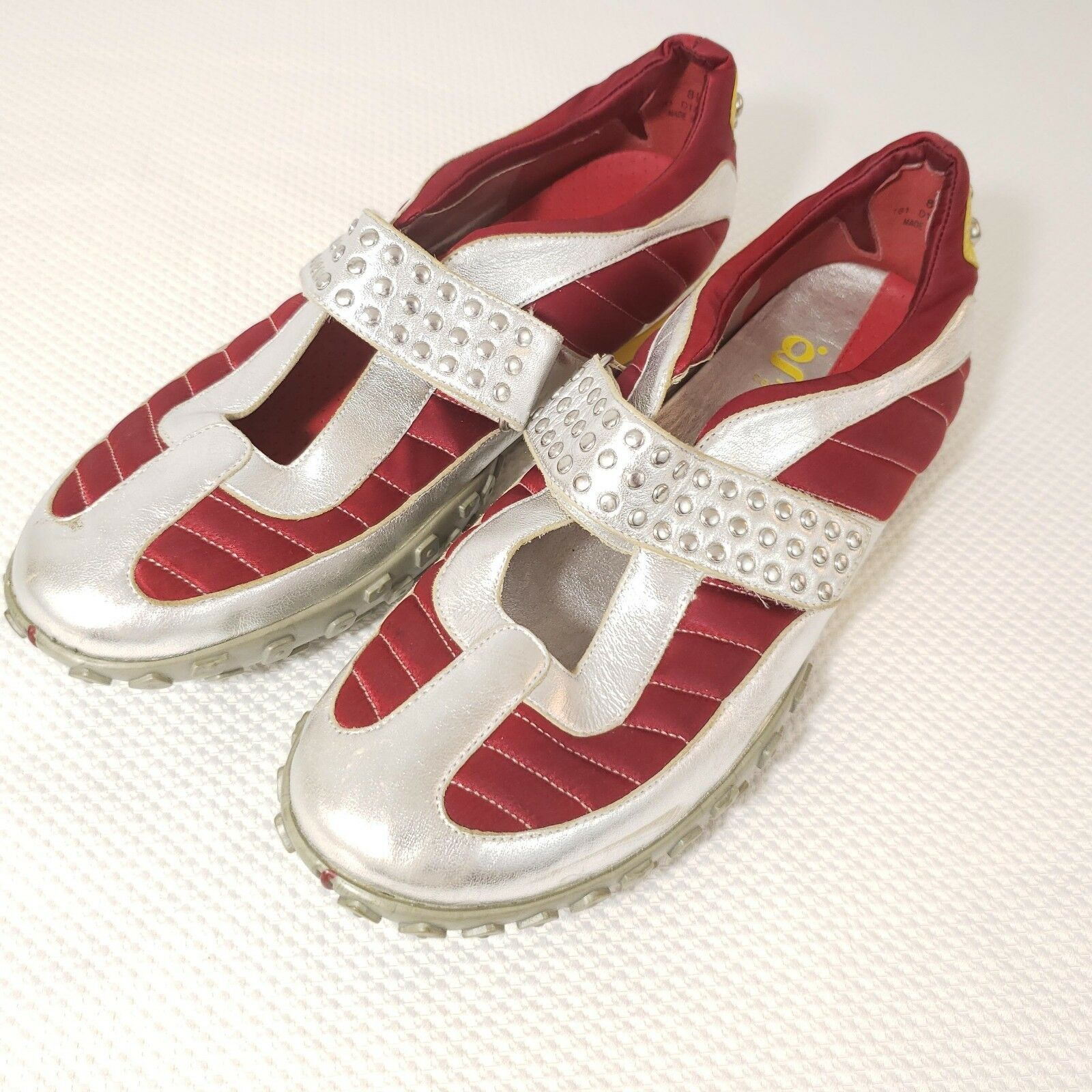 G Series Nike Lab Red Silver Studded Mary Jane shoes Sneakers 8.5