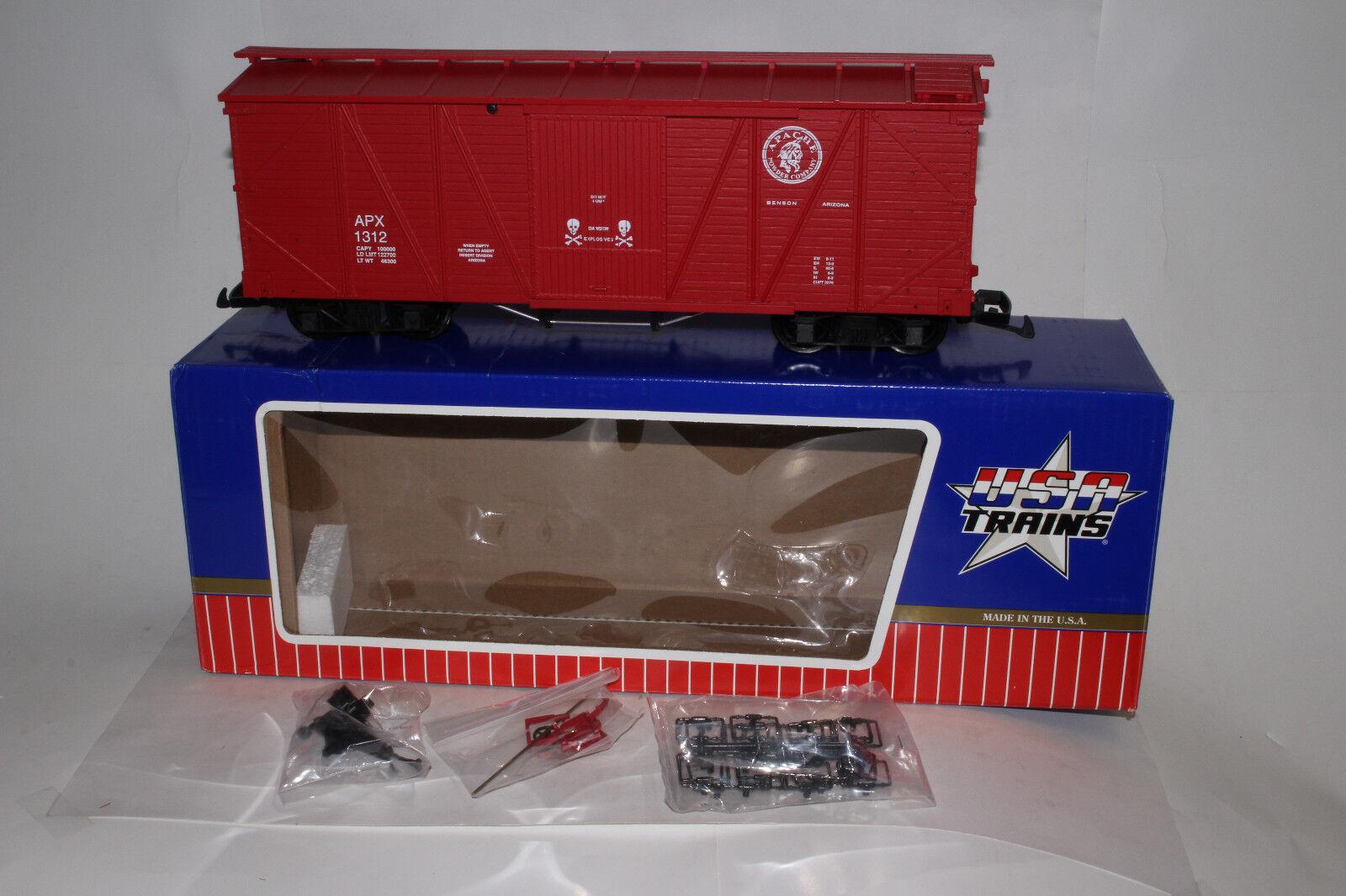 USA i treni G SCALE APACHE POWDER azienda scatolaauto, TCA 2009, EXCELLENT, scatolaED