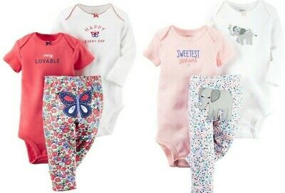 NWT Gymboree BRAND NEW BABY Girls Size 12-18 Months Bodysuit Pants Bib 3-PC SET
