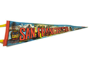 San-Francisco-CA-California-Vintage-Souvenir-25-034-Felt-Pennant