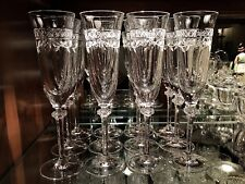 Item 1 Royal Doulton Crystal Wellesley 8 7 Champagne Flutes 12 Clear Rim