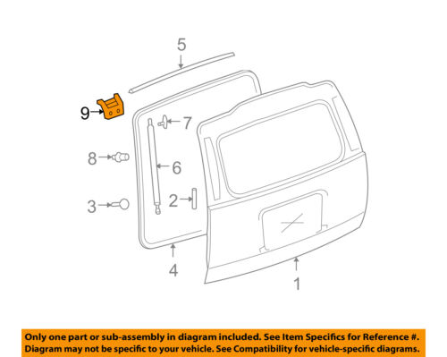 GM OEM Liftgate Tailgate-Hinge 15875510