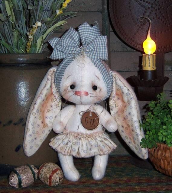 PATTERN Primitive Raggedy Ann Doll Bunny Ornie TBP