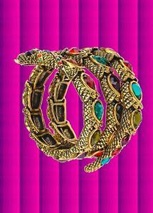 Angemessen A138✪ Boho Hippie Armreifen Armspange Armschmuck Schlange Ägypterin Gold Bunt üBerlegene (In) QualitäT