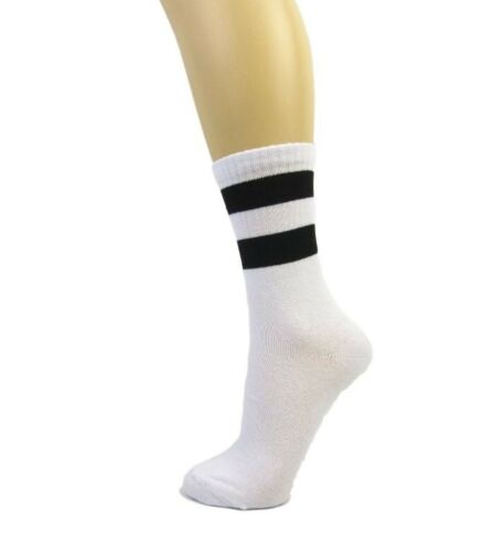 Cotton Blend Two Stripe Soccer Style Ankle Socks|Stripe Top Ankle Socks 4-7