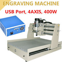 400w 4 Axis Cnc Router Engraver 3040 Engraving Machine Fast Shipping