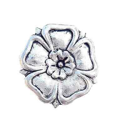 English Rose Finely Handcrafted in Solid Pewter In UK Lapel Pin Badge