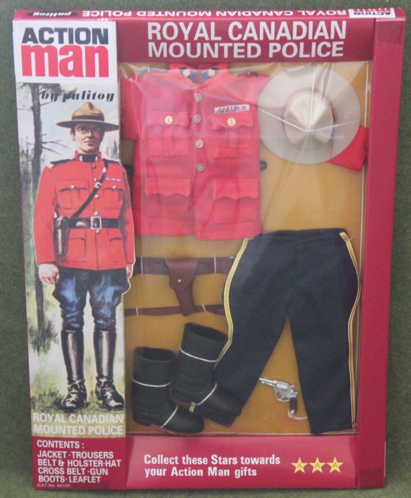 VINTAGE ACTION MAN 40th anniversario Polizia Montata Canadese in massa in Scatola
