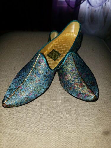 Vintage Mint Daniel Green Harem Slippers