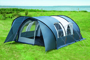 Details zu Dwt Zelt Gobi Plus Größe 3 mit abnehmbarem Sonnenvordach Touringzelt Tunnelzelt