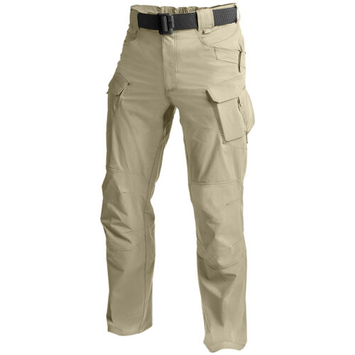Helikon Outdoor Tactical Mens Cargo Trousers Hiking Fishing Combat Pants Khaki