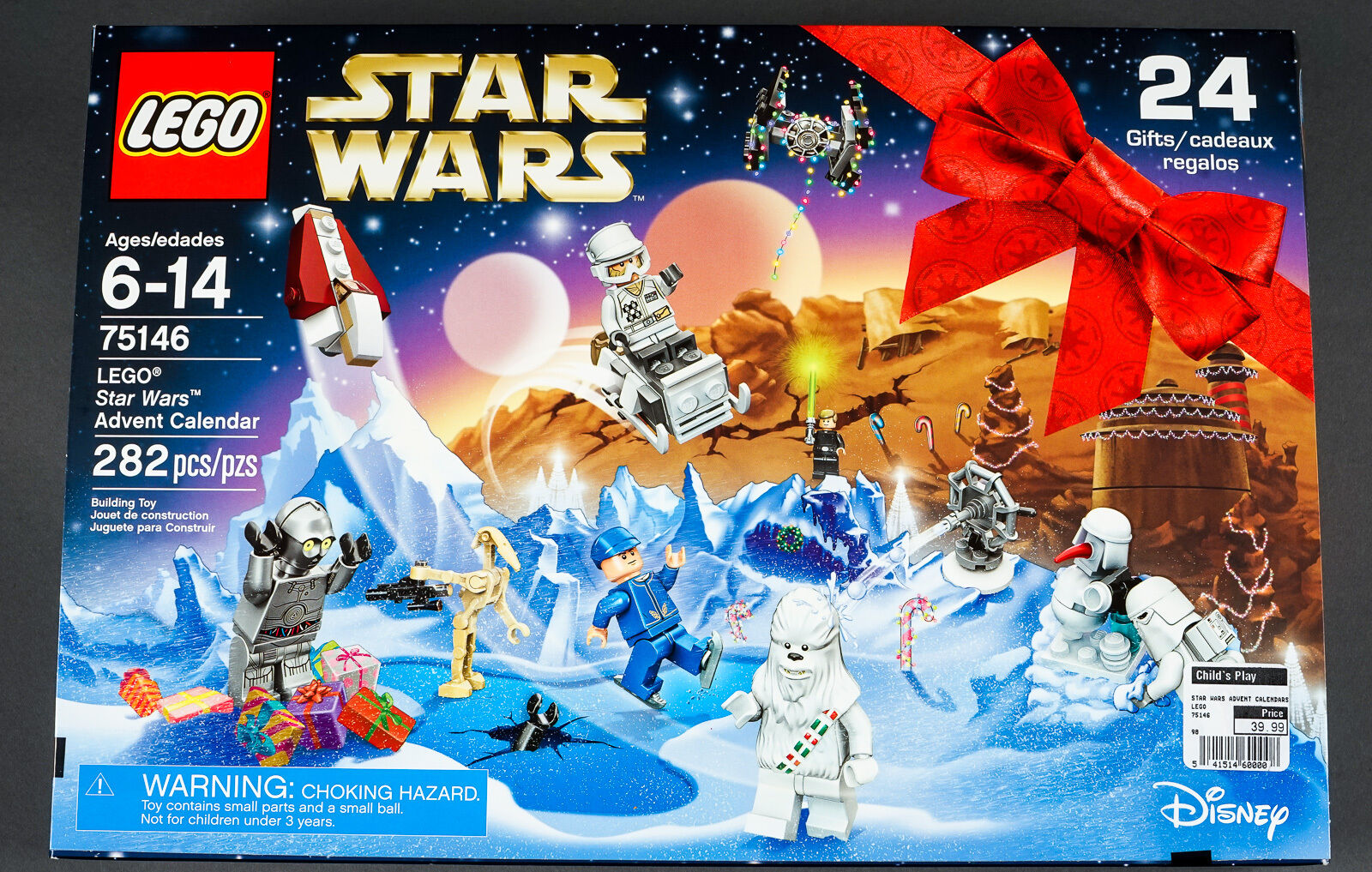 New In Box Lego Star Wars 2016 Advent Calendar Gifts Snow Chewbacca