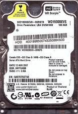 """2,5"""" Western Digital 160 GB HDD WD Scorpio WD1600BEVS-00RST0 DCM: HHYTJHBB"""