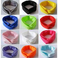 Girls BabyKids Cross Knot Hairband Headband Elastic Headwear Hair Accessories XN