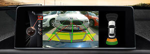 BMW F Reversing backup camera retrofit 3AG with dynamic lines for