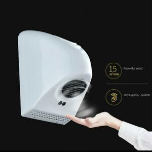 Automatic Hand Dryer Hot Air Wind Blower Bathroom Wall Mounted Smart Sensor