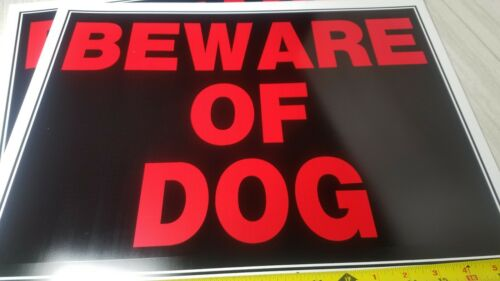 "2 Signs BEWARE OF DOG 15/"" x 19/"" Plastic Sign"