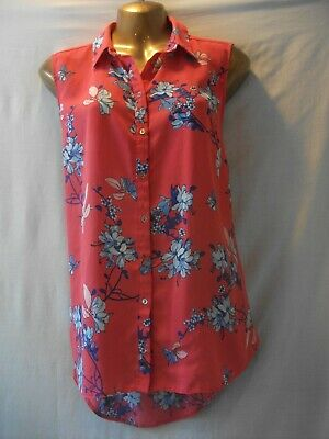 New George Ladies Sleeveless Chiffon Cross Back Summer Top Size 10-24 Multi