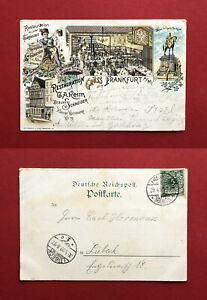 Litho-AK-FRANKFURT-am-Main-1899-Restauration-von-Keim-Brauerei-Schneider-61853
