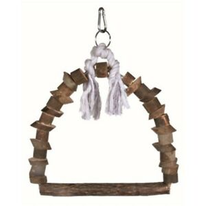 Trixie-Natural-Living-Arch-Swing-15-x-20cm-Swing-Bird-Rope-Wooden-Perch