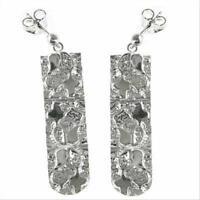 925 Silver Flower Design Dangle Earrings