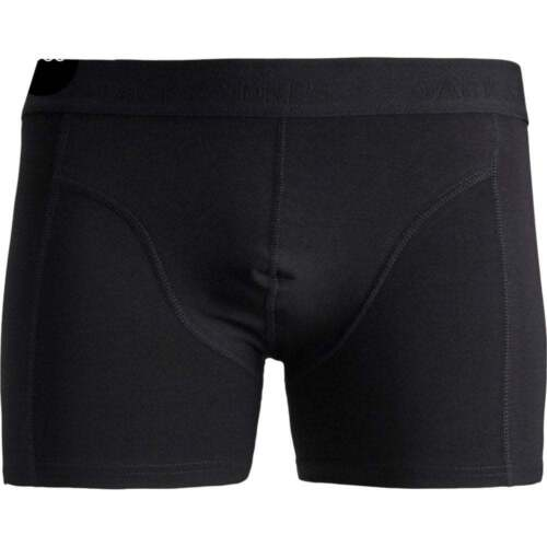 Da Uomo Jack /& Jones Di marca Nuovo Casual Tinta Unita Semplice Boxer Trunks Pantaloncini Nero