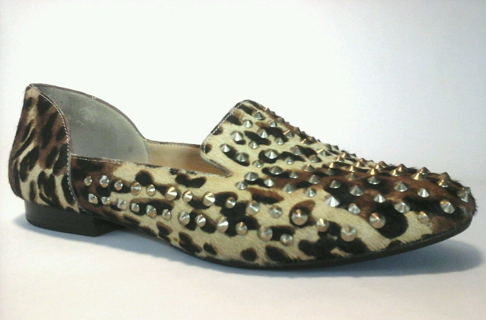 Kenneth Cole Women Leather Cheetah Animal Print Studs Loafer Loafer Studs Shoes US 6 1796ca