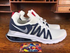 4bbc7dee02ae Nike Shox Gravity Mens Mesh Running Shoe Navy White AR1999 104 NEW ...