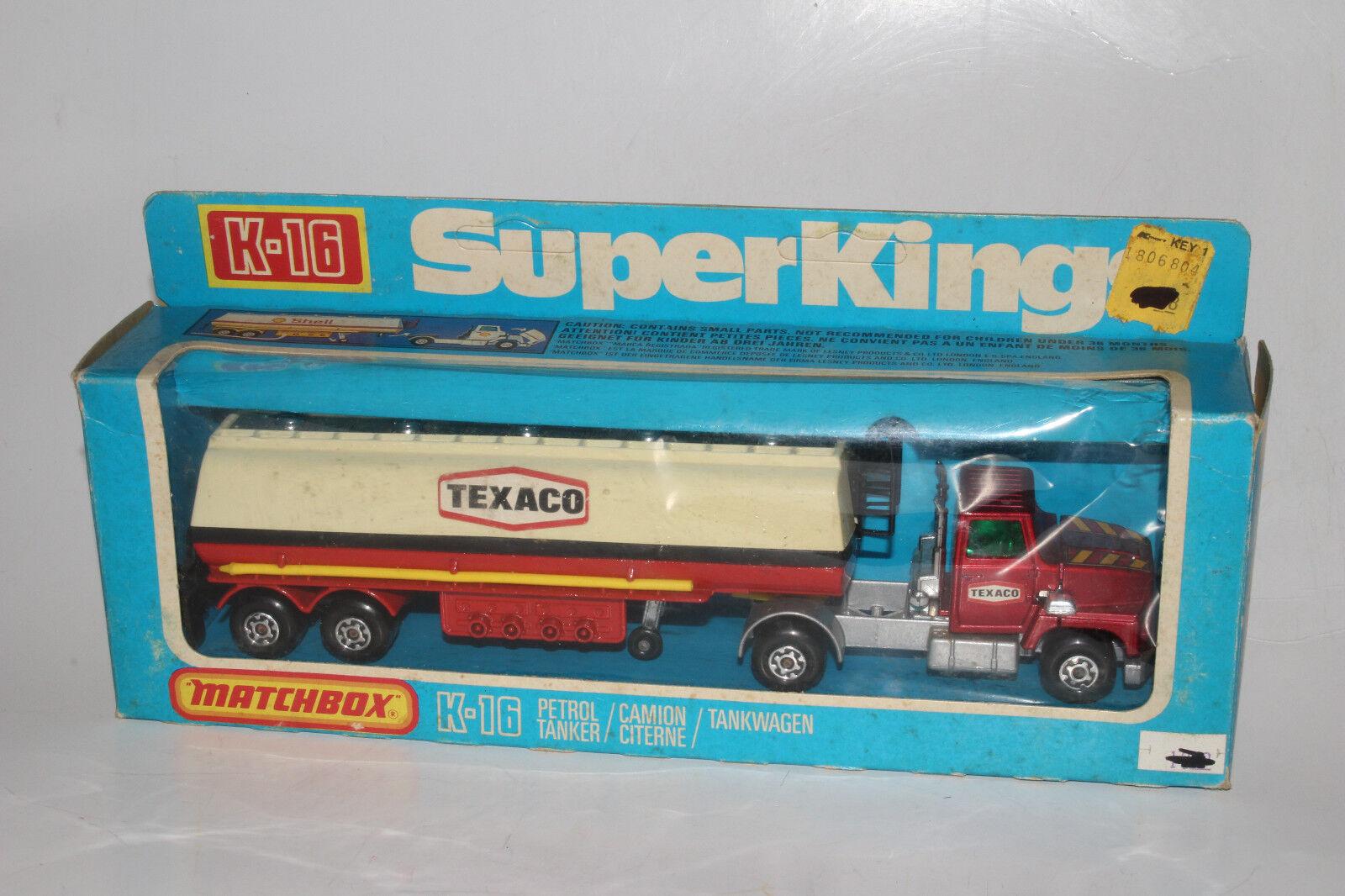 Matchbox Super Rois K-16 Ford Lts Articulé Camion Citerne, Jaune Grille, Boîte 2