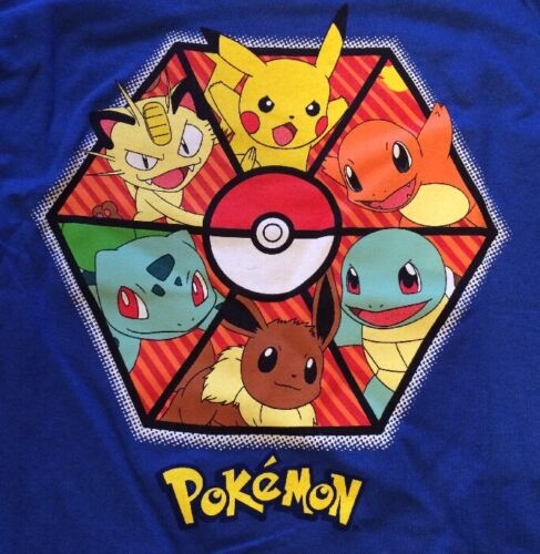 Pokémon Octogon  Kids T-shirt Blue M8