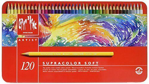 Set Caran d/'Ache Supracolor Pencil 120//Tin 3888.420
