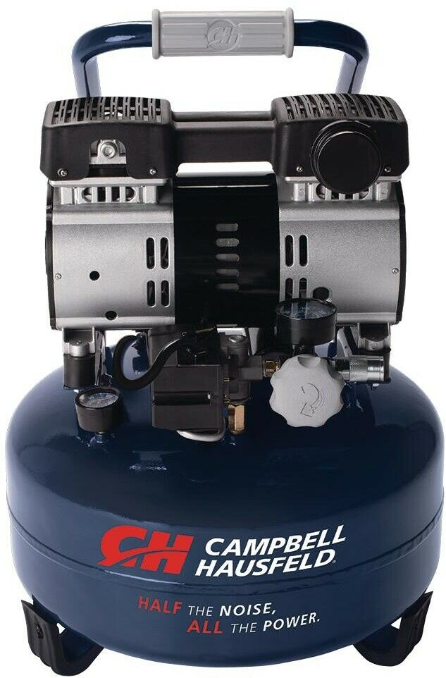 Campbell Hausfeld 6 Gal. Electric Pancake Quiet Air Compressor Oil Free Pump NEW