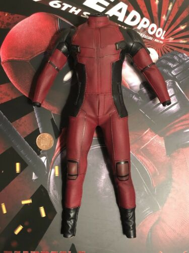 Hot Toys Dead Pool 2 MMS490 Body /& Red Suit loose 1//6th scale