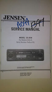 jensen cs 2510 service manual original repair book stereo car tape rh ebay com jensen radio manuals user's manual jensen radio manual