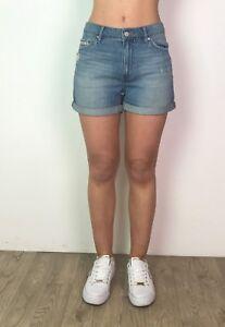 Womens-Denim-Shorts-Cotton-Ladies-Ex-Designer-Casual-Regular-Turned-Up