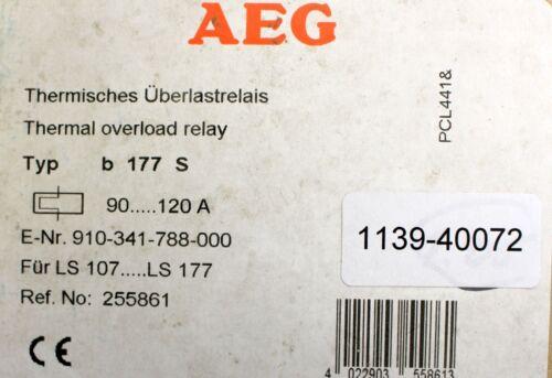 AEG THERMIQUE surintensité relais B 177 S 90-120 a pour ls107-177 ref 255861 No