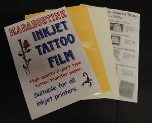 Madaboutink-2-Part-pro-Getto-Inchiostro-Tatuaggio-Carta-Adesiva-3-x-A4