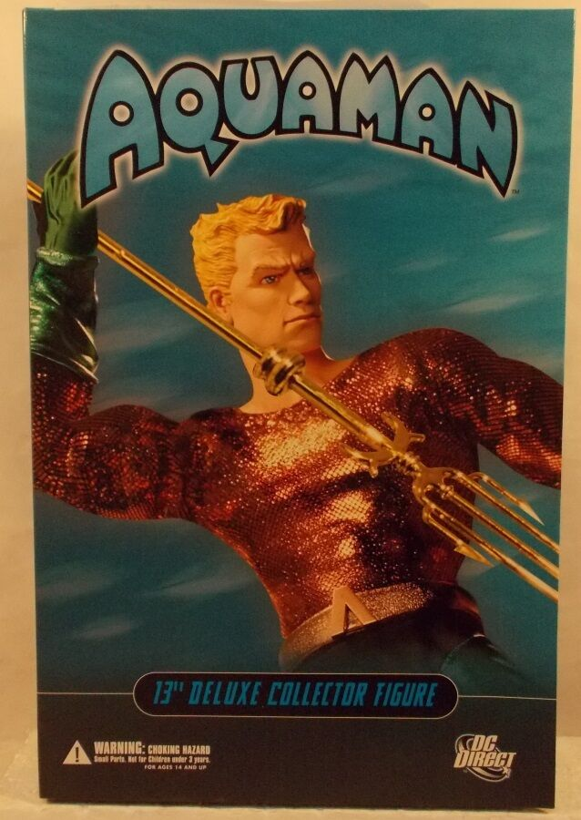 DC Direct 13  Deluxe Collector Edition Aquaman With Trident & Base 1 6 (MISB)