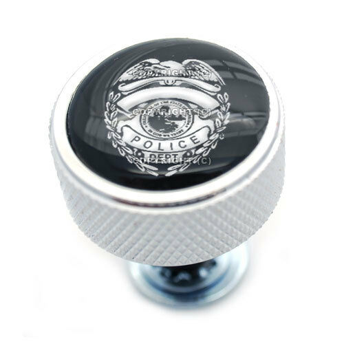 "Chrome Billet /""Police Badge/"" Knurled Bolt for Harley Mounting Seat to Fender"