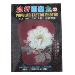 Details about China Flower Painting Drawing Tattoo Flash Sketch Reference  Book Peony Rose