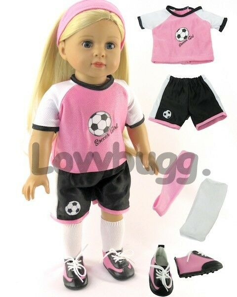 Pink Soccer Uniform W Shoes for American Girl 18 Inch Doll Clothes Lovv  Lovvbugg for sale online   eBay