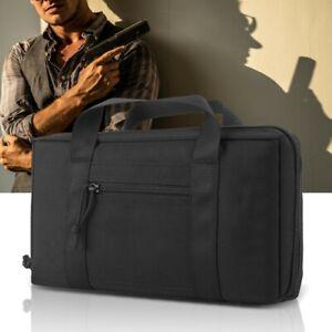 Tactic-Pistol-Handgun-Carry-Case-Padded-Bag-Shooting-Range-Magazine-Pouch-Black
