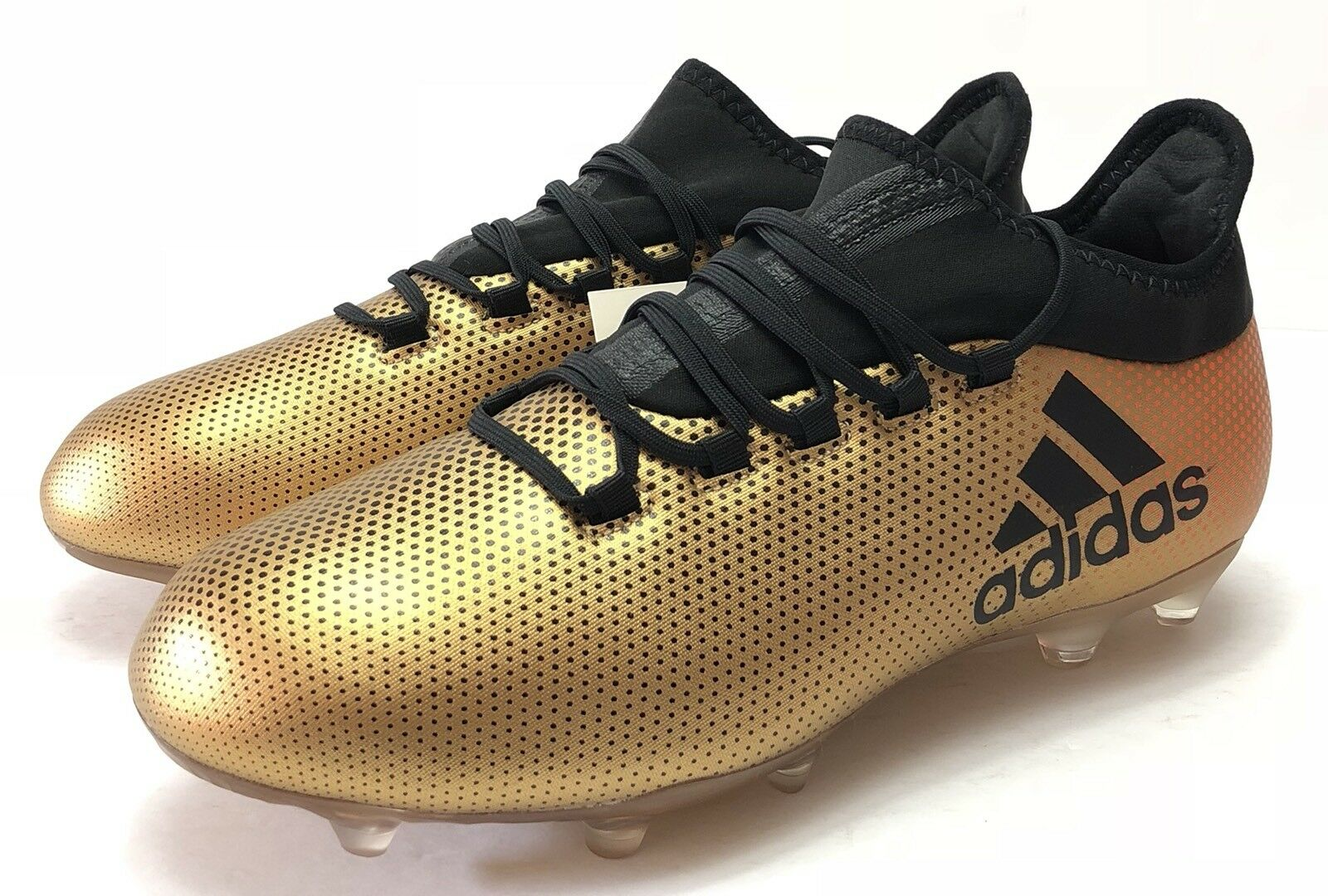NEW Adidas X 17.2 FG Uomo Soccer Cleats Stivali Football CP9186 Gold Nero Size 8