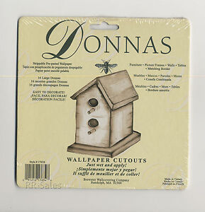 16 Bird House Wall Decor Decals Donna Dewberry Wallpaper Cutouts ...