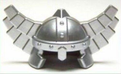 - Flat Silver Minifig LEGO Dwarf // Viking Headgear Helmet with Wings